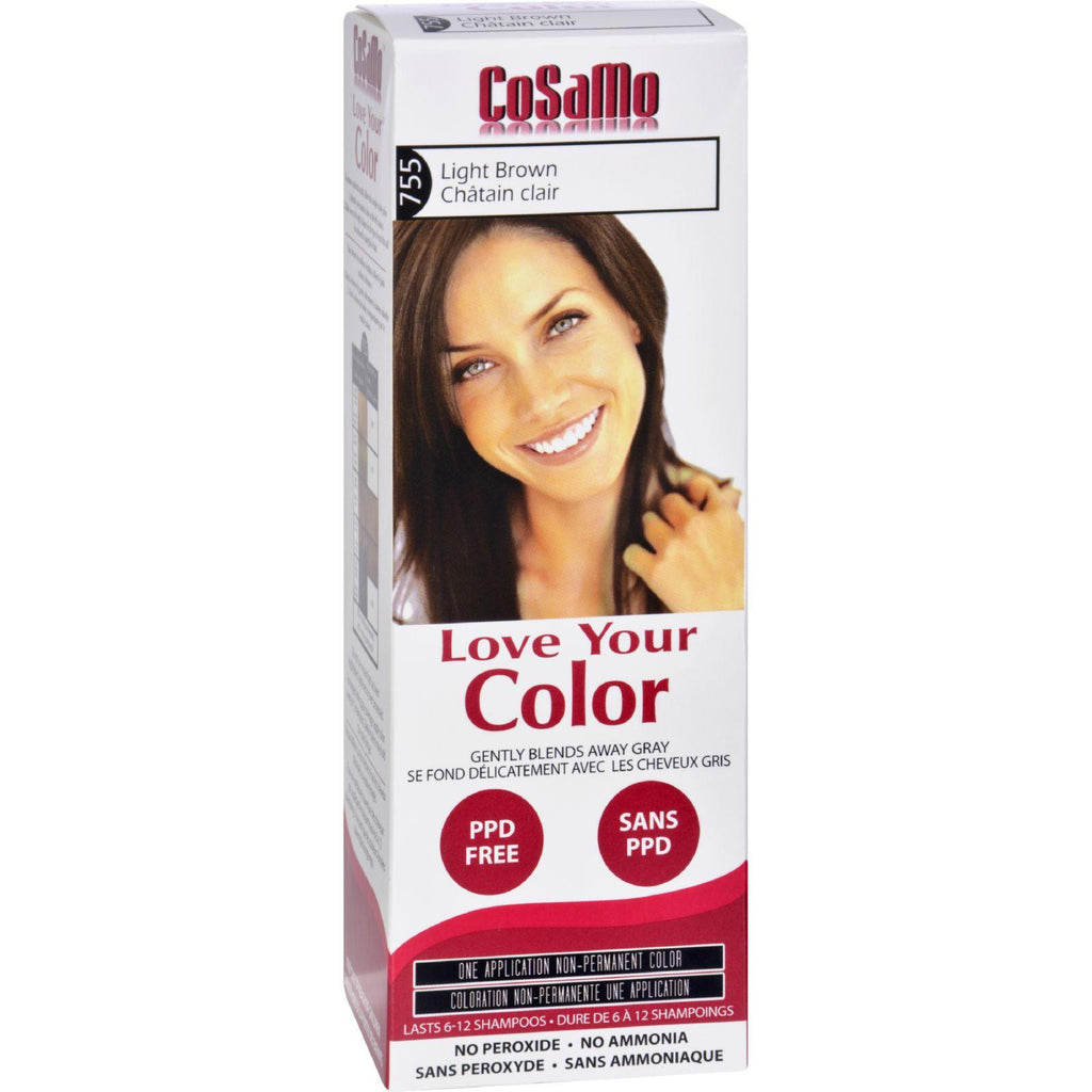 Love Your Color Hair Color - Cosamo - Non Permanent - Light Brown - 1 Count-Love Your Color-pantryperks