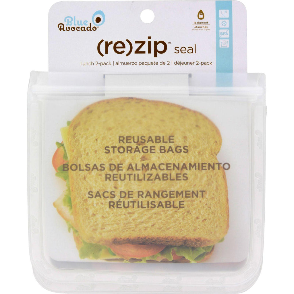 Blue Avocado (re) Zip Seal Lunch Bag - Translucent-Blue Avocado-pantryperks
