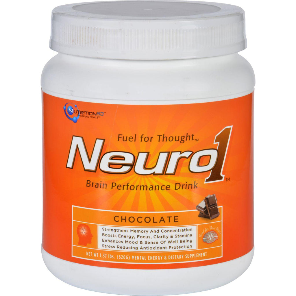 Nutrition53 Nuero1 Mental Performance - Chocolate - 1.37 Lb-Nutrition53-pantryperks