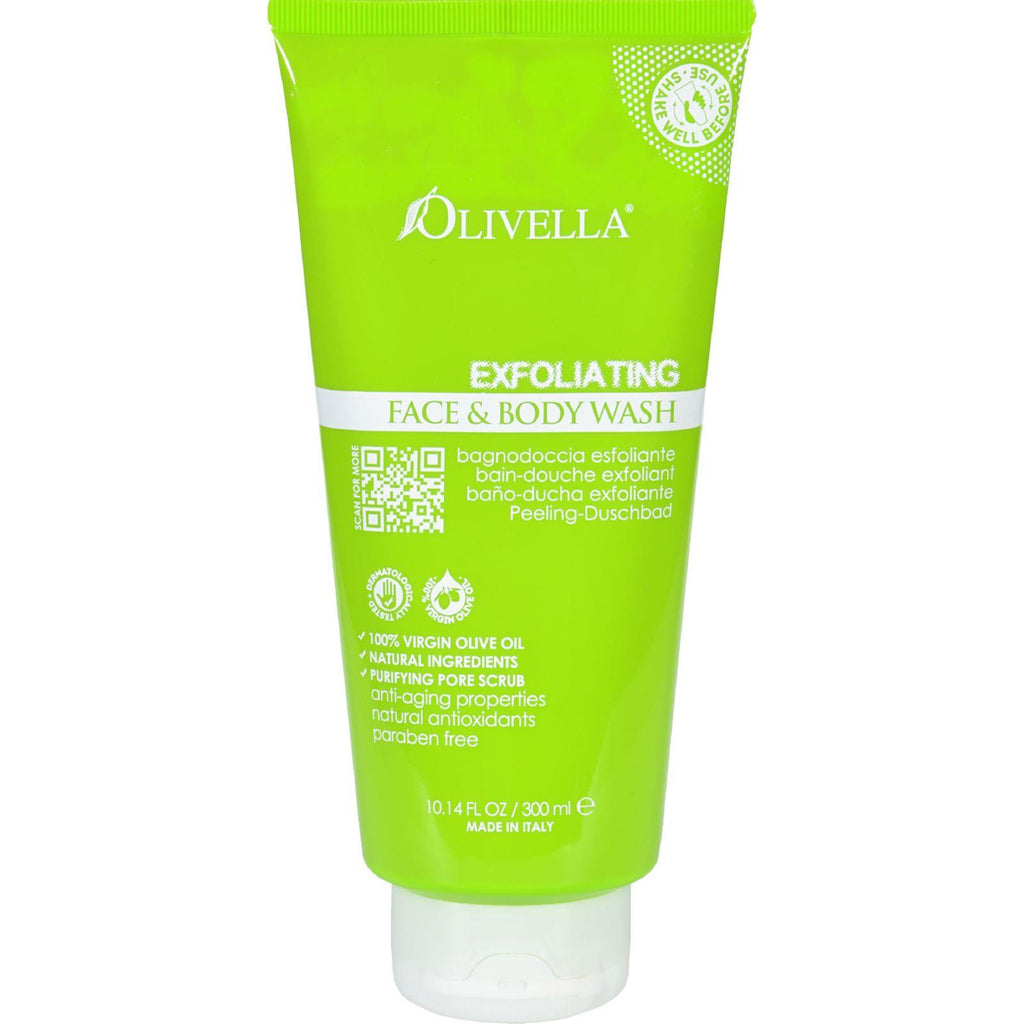 Olivella Face And Body Wash - Exfoliating - 10.14 Fl Oz-Olivella-pantryperks