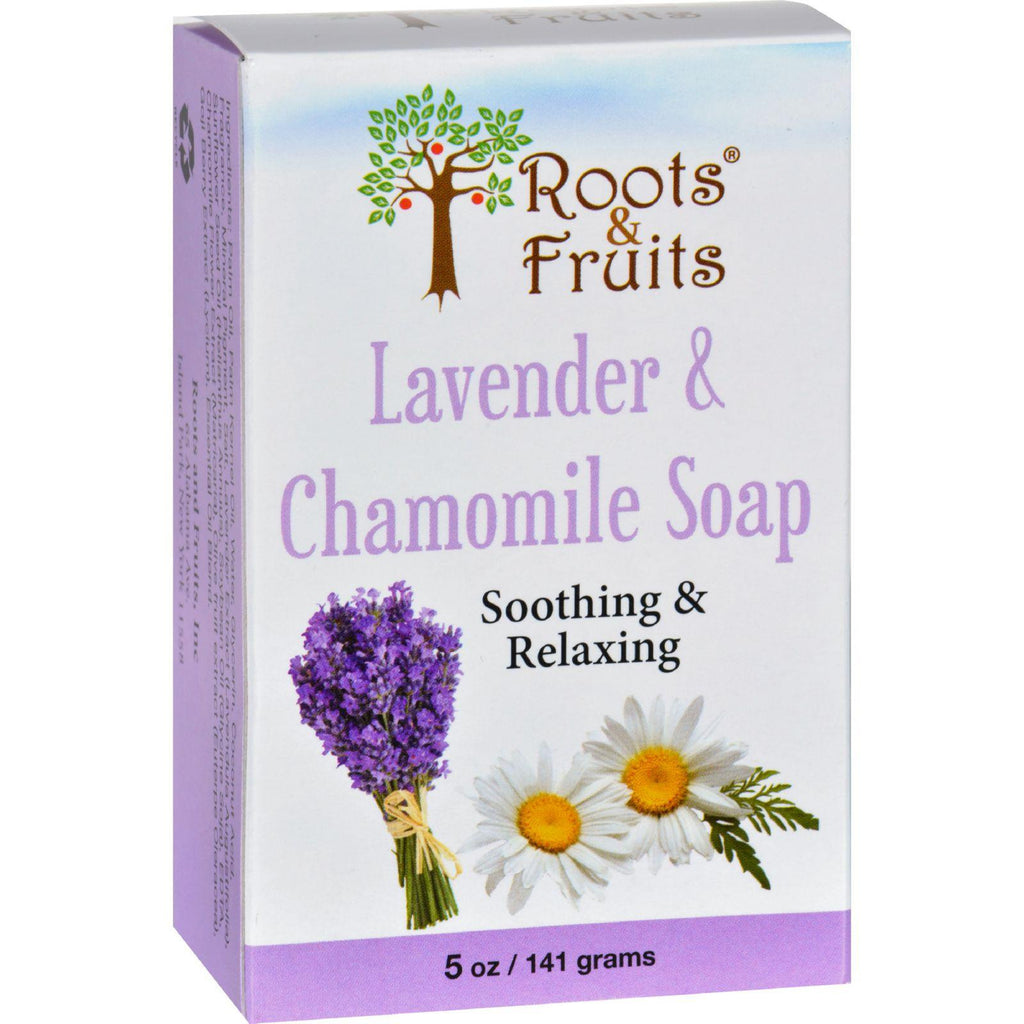 Roots And Fruits Bar Soap - Lavender And Chamomile - 5 Oz-Roots And Fruits-pantryperks