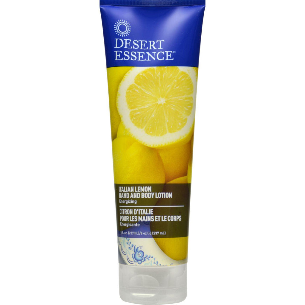 Desert Essence Hand And Body Lotion - Italian Lemon - 8 Fl Oz-Desert Essence-pantryperks