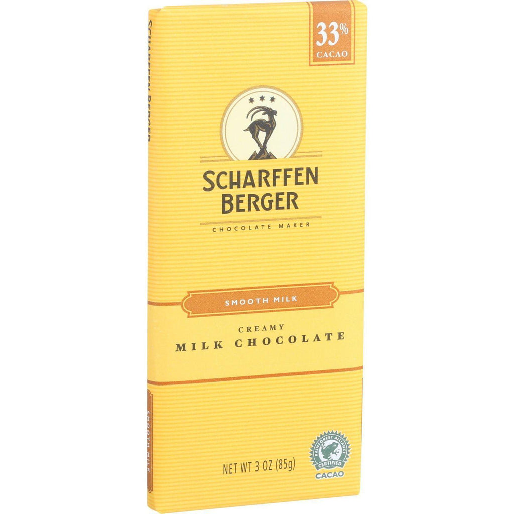 Scharffen Berger Chocolate Bar - Milk Chocolate - 33 Percent Cacao - Smooth - Creamy - 3 Oz Bars - Case Of 12-Scharffen Berger-pantryperks