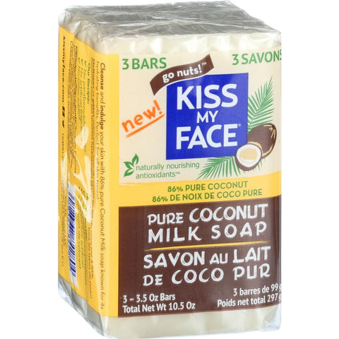 Kiss My Face Bar Soap - Coconut Milk - 10.5 Oz-Kiss My Face-pantryperks