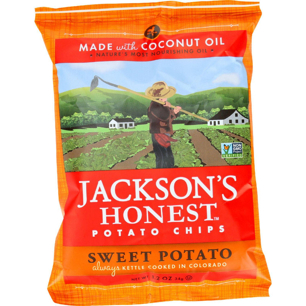 Jackson's Honest Coconut Oil Potato Chips Sweet Potato - 1.2 oz-Jackson's Honest Chips-pantryperks
