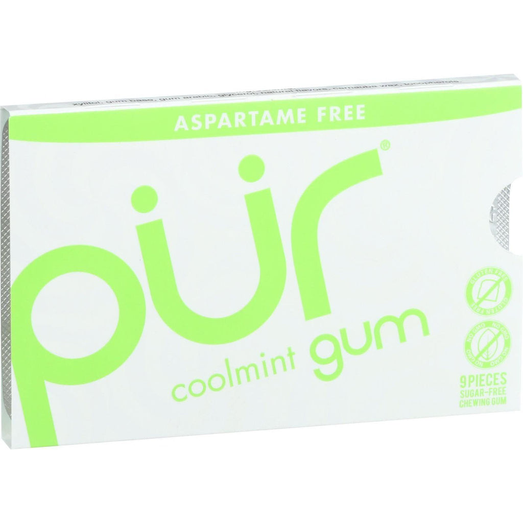 PUR Gum Coolmint Aspartame Free - 9 Piece Sleeve - 0.4 Ounces-Pur Gum-pantryperks