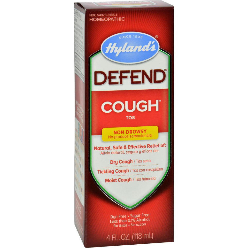 Hylands Homepathic Cough Syrup - Defend - 4 Fl Oz-Hyland's-pantryperks
