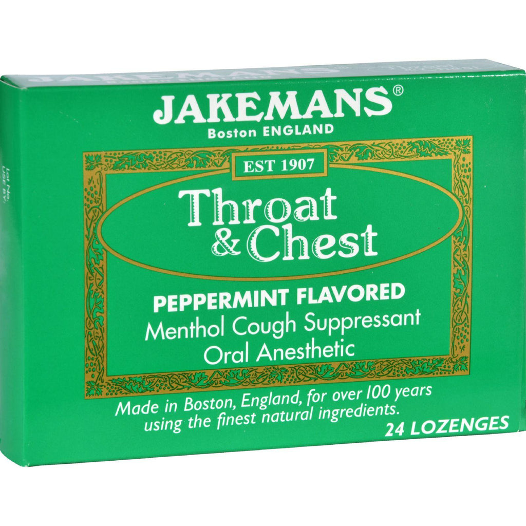 Jakemans Lozenge - Throat And Chest - Peppermint - 24 Count-Jakemans-pantryperks