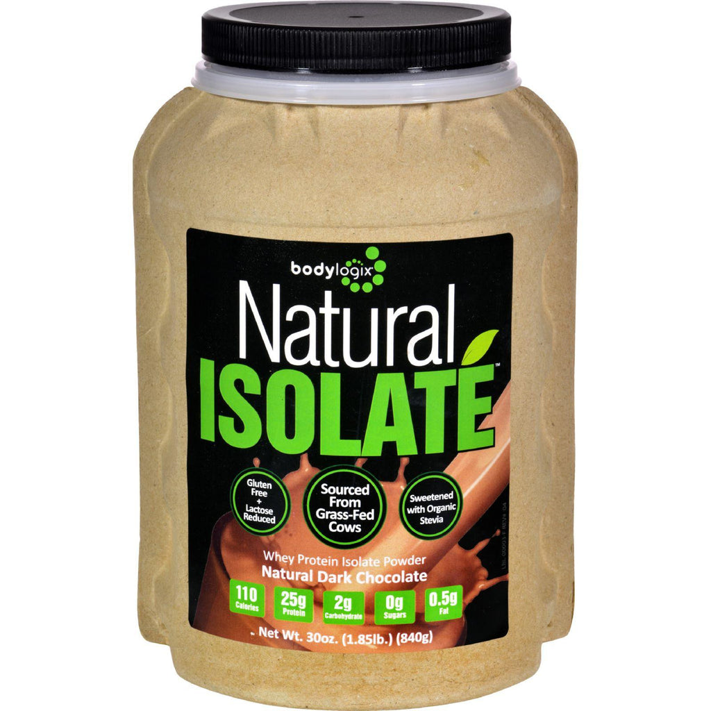 Bodylogix Isolate Powder - Natural Whey - Dark Chocolate - 1.85 Lb-Bodylogix-pantryperks