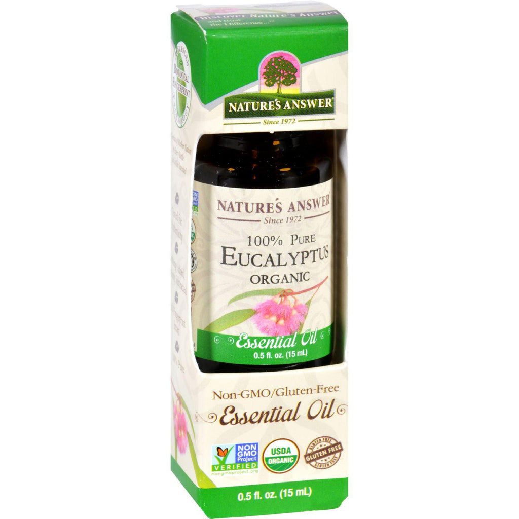 Natures Answer Essential Oil - Organic - Eucalyptus - .5 Oz-Nature's Answer-pantryperks