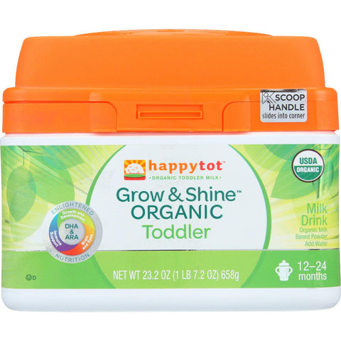 Happy Tot Milk Drink - Organic - Grow And Shine - Toddler - Powder - 23.2 Oz - Case Of 4-Happy Tot-pantryperks