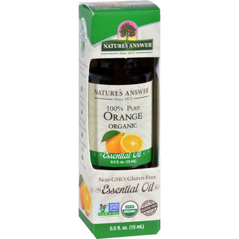 Natures Answer Essential Oil - Organic - Orange - .5 Oz-Nature's Answer-pantryperks