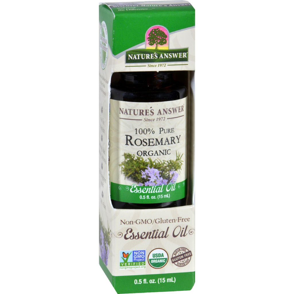 Natures Answer Essential Oil - Organic - Rosemary - .5 Oz-Nature's Answer-pantryperks