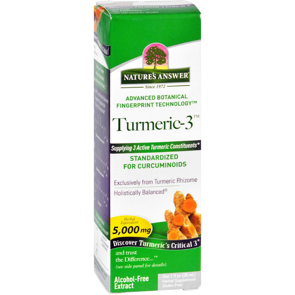 Natures Answer Turmeric-3 - Liquid - 1 Oz-Nature's Answer-pantryperks
