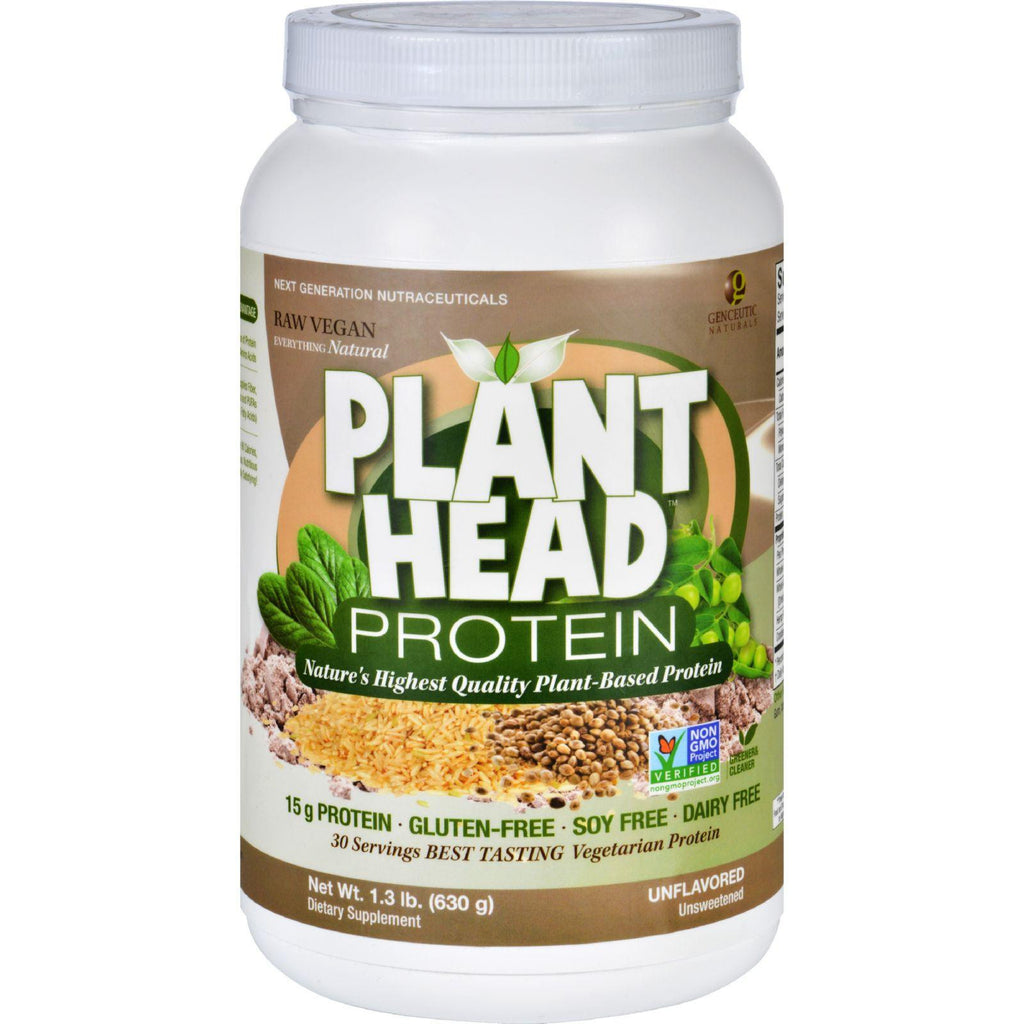 Genceutic Naturals Plant Head Protein - Unflavored - 1.3 Lb-Genceutic Naturals-pantryperks