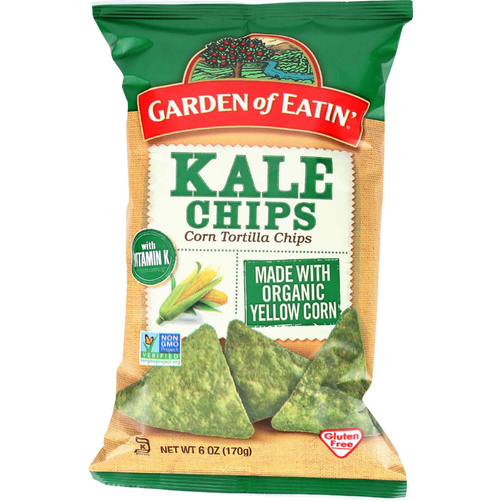 Garden of Eatin' Kale Corn Tortilla Chips - 6 oz-Garden Of Eatin'-pantryperks