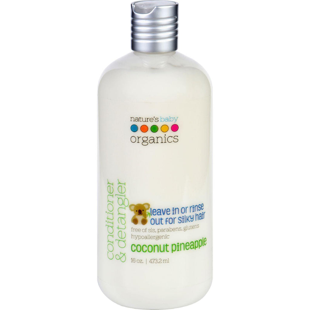 Natures Baby Organics Conditioner And Detangler - Coconut Pineapple - 16 Oz-Nature's Baby Organics-pantryperks