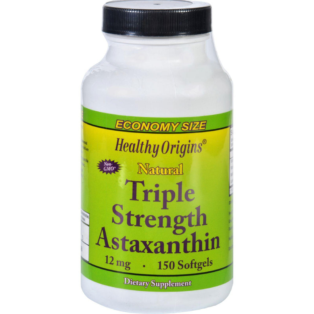 Healthy Origins Astaxanthin - Natural - Triple Strength - 12 Mg - 150 Softgels-Healthy Origins-pantryperks