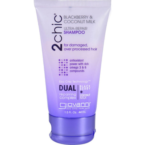Giovanni Hair Care Products Shampoo - 2chic - Repairing - Blackberry And Coconut Milk - 1.5 Oz-Giovanni Hair Care Products-pantryperks