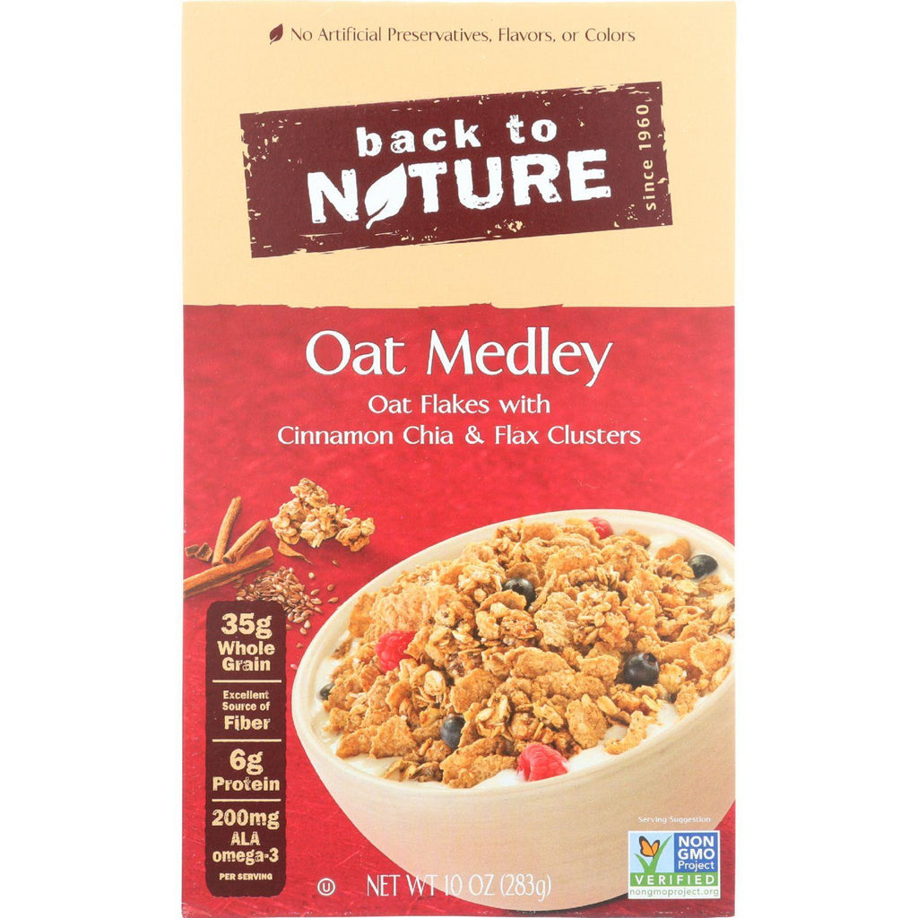 Back to Nature Cereal - Oat Medley with Cinnamon Clusters - 10 Ounce-Back To Nature-pantryperks