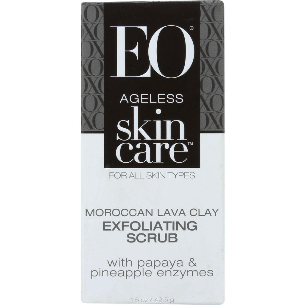 EO Ageless Skin Care Moroccan Lava Clay Exfoliating Scrub with Papaya & Pineapple Enzymes - 1.5 Ounce-Eo Products-pantryperks