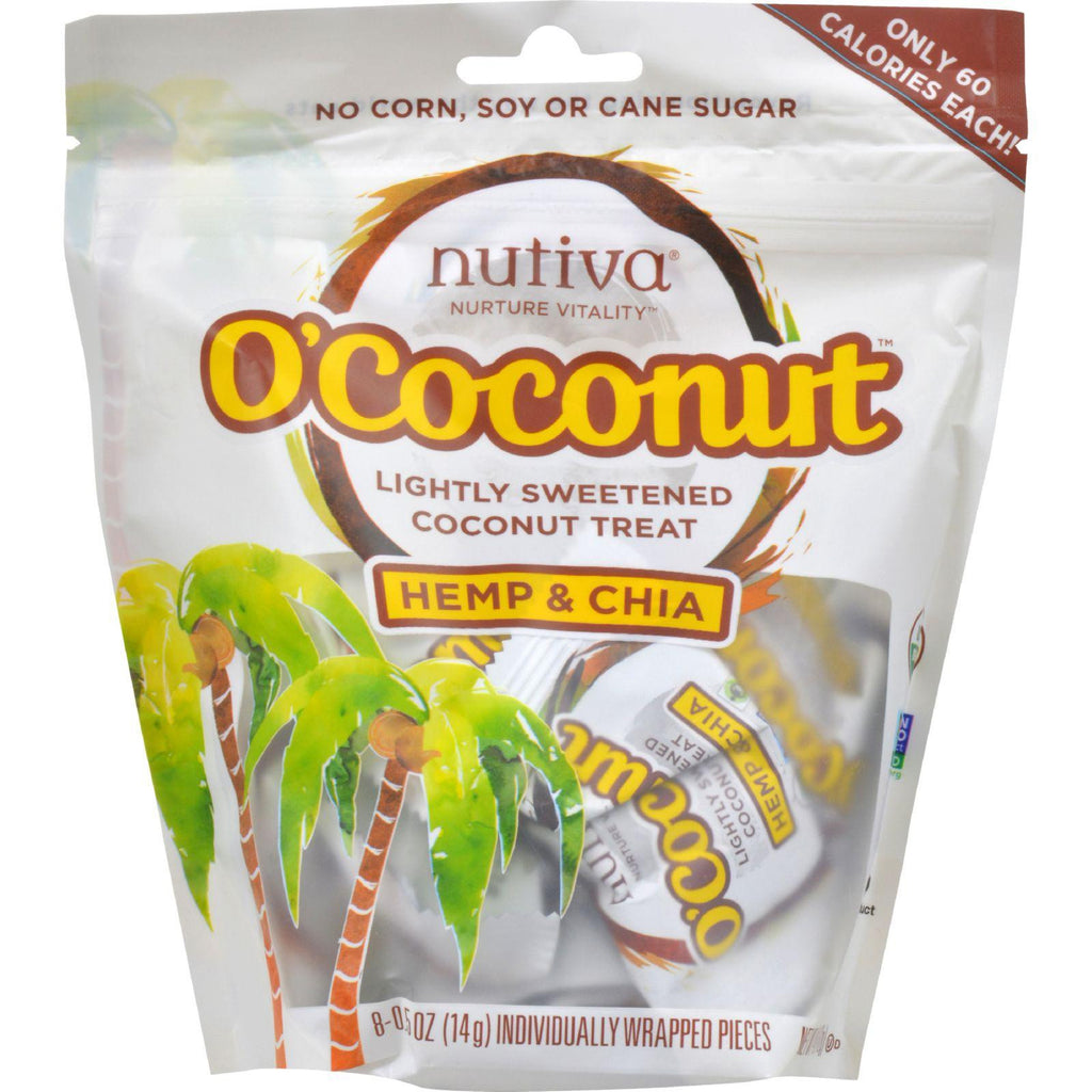 Nutiva Ococonut Snack - Organic - Hemp And Chia - 4 Oz - Case Of 8-Nutiva-pantryperks