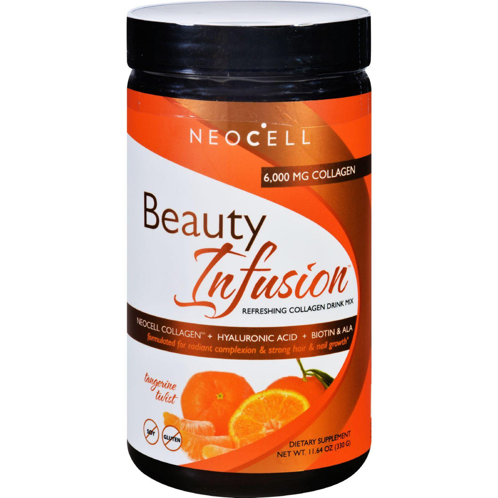 Neocell Beauty Infusion Refreshing Collagen Drink Mix Supplement - Tangerine Twist -11.64 OZ-Neocell Laboratories-pantryperks