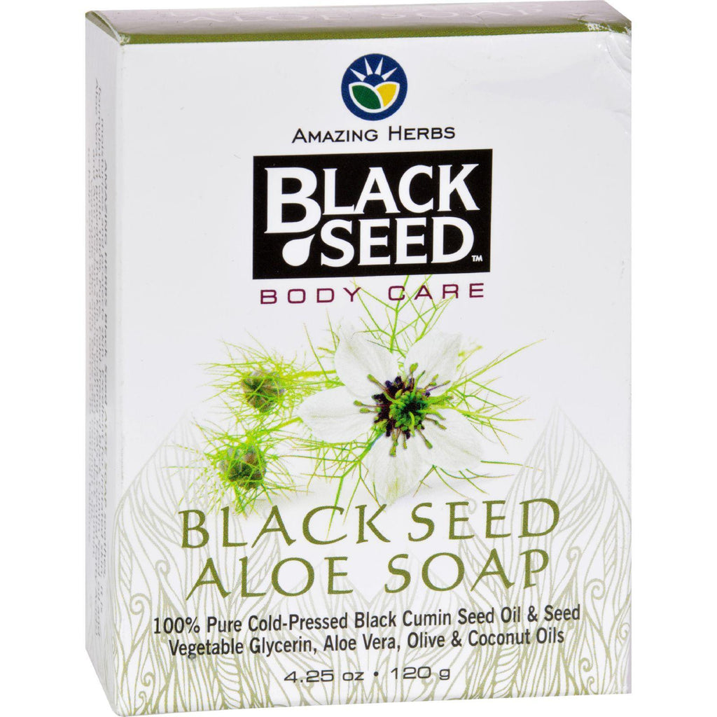 Black Seed Bar Soap - Aloe - 4.25 Oz-Black Seed-pantryperks