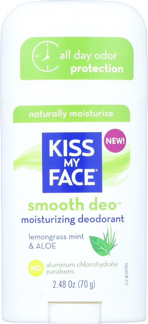 Kiss My Face Deodorant - Fresh Smoothie - Lemongrass Mint And Aloe - Stick - 2.48 Oz-Kiss My Face-pantryperks