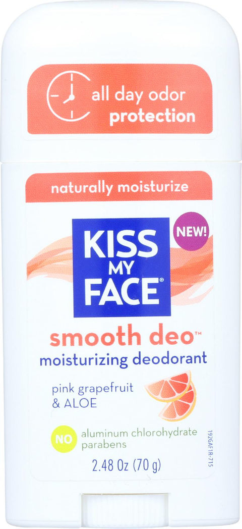Kiss My Face Deodorant - Fresh Smoothie - Pink Grapefruit And Aloe - Stick - 2.48 Oz-Kiss My Face-pantryperks