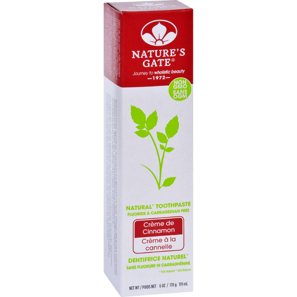 Natures Gate Toothpaste - Creme De Cinnamon - 6 Oz - Case Of 6-Nature's Gate-pantryperks