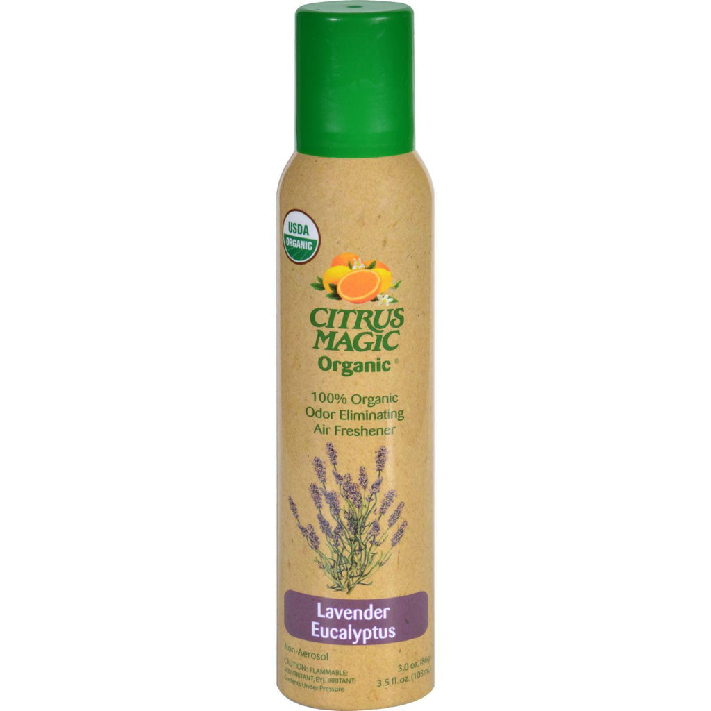 Citrus Magic Air Freshener - Odor Eliminating - Spray - Lavender Eucalyptus - 3.5 Oz-Citrus Magic-pantryperks