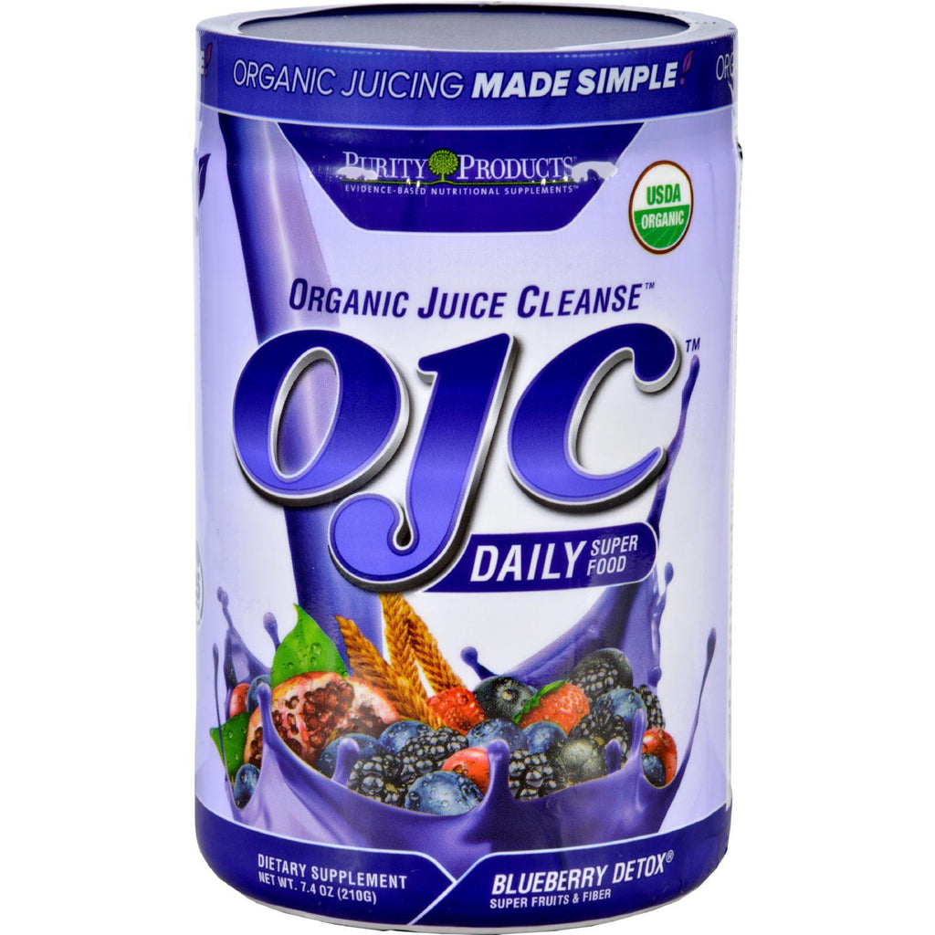Ojc-purity Products Organic Juice Cleanse - Certified Organic - Advanced Daily Fiber Formula - Blueberry Detox - 7.4 Oz-Ojc-purity Products-pantryperks