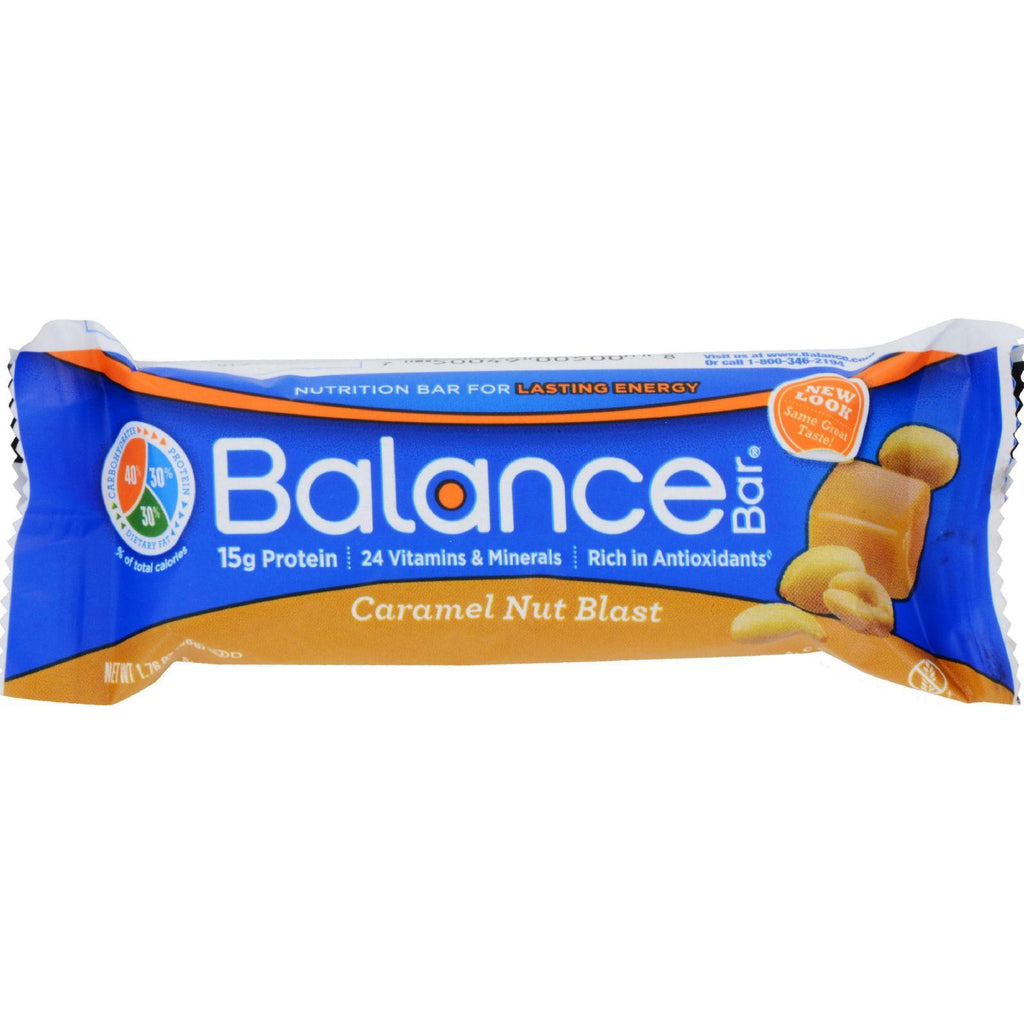 Balance Bar - Gold - Caramel Nut Blast - 1.76 Oz - Case Of 6-Balance Bar-pantryperks