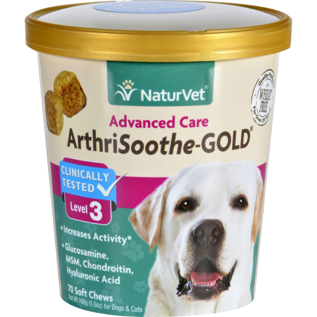 Naturvet Arthrisoothe-gold - Level 3 - Dogs And Cats - Cup - 70 Soft Chews-Naturvet-pantryperks