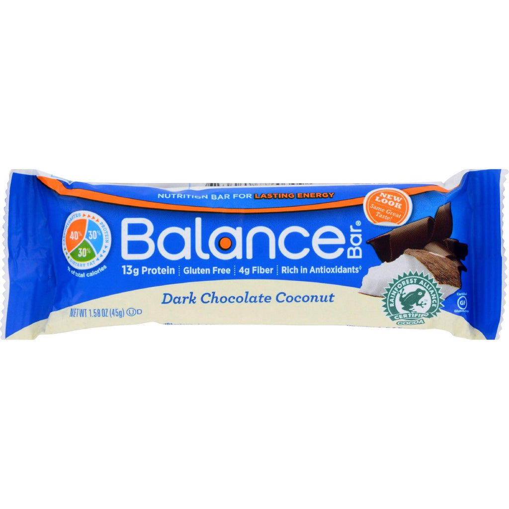Balance Bar - Dark Chocolate Coconut - 1.58 Oz - Case Of 6-Balance Bar-pantryperks