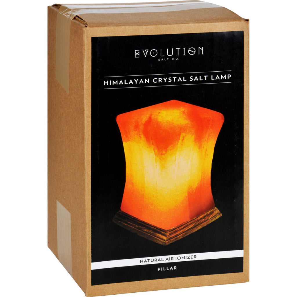 Evolution Salt Crystal Salt Lamp - Pillar - 1 Count-Evolution Salt-pantryperks
