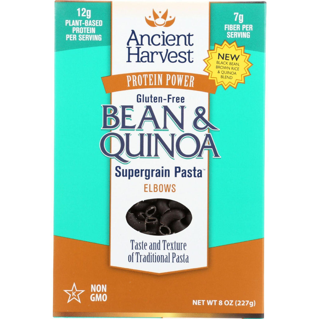 Ancient Harvest Pasta - Supergrain - Black Bean And Quinoa Elbows - Gluten Free - 8 Oz - Case Of 6-Ancient Harvest-pantryperks