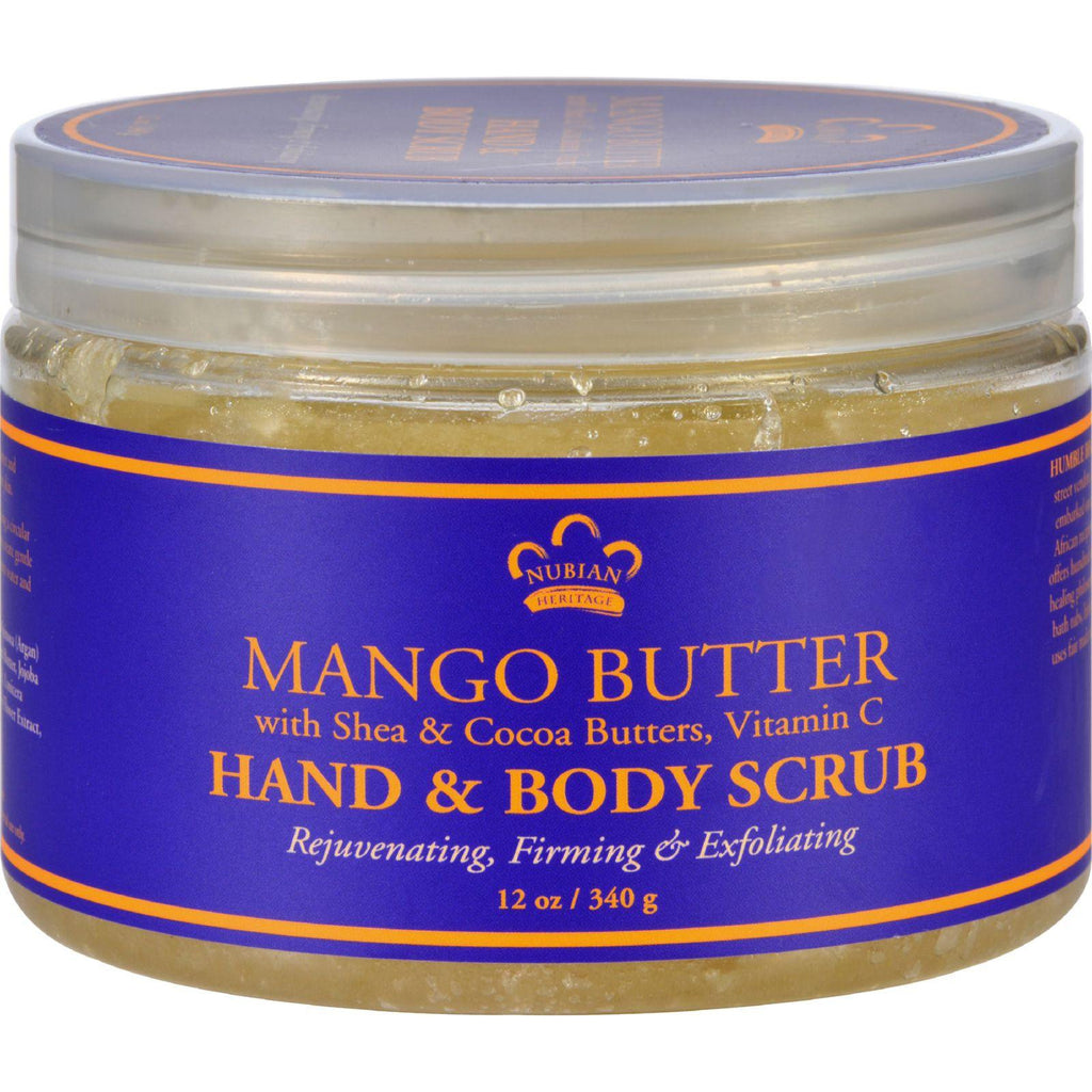Nubian Heritage Hand And Body Scrub - Mango Butter - 12 Oz-Nubian Heritage-pantryperks
