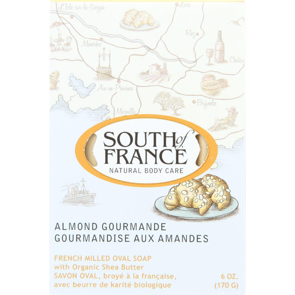 South of France French Milled Oval Soap Almond Gourmande - 6 oz-South Of France-pantryperks