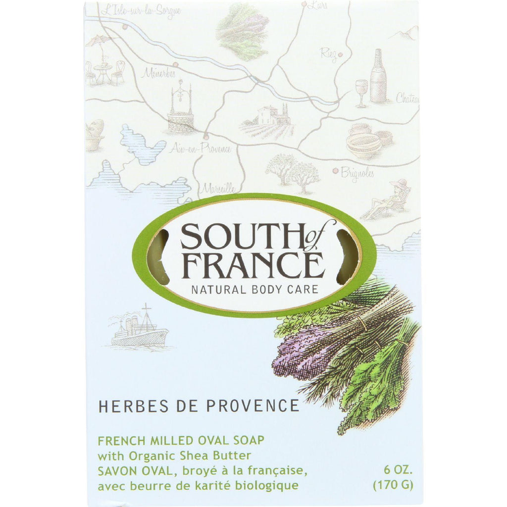 South of France French Milled Oval Soap Herbes De Provence - 6 oz-South Of France-pantryperks