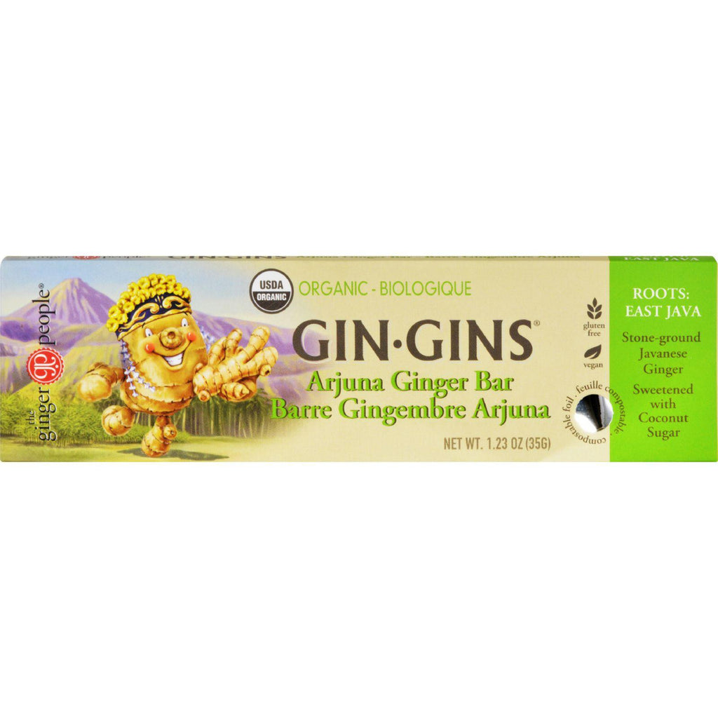 Ginger People Gin Gins Bar - Organic - Arjuna Ginger - 1.23 Oz - Case Of 16-Ginger People-pantryperks