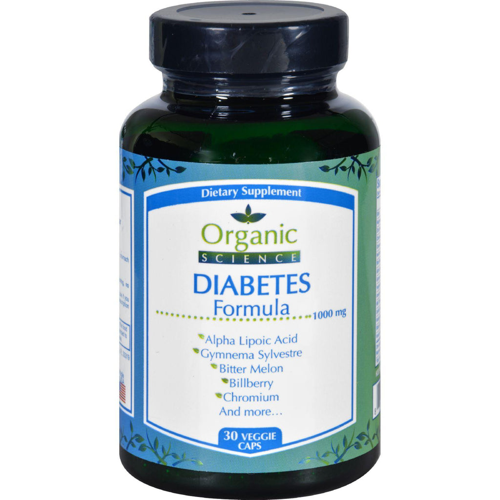 Organic Science Diabetes Formula - 30 Veggie Caps-Organic Science-pantryperks