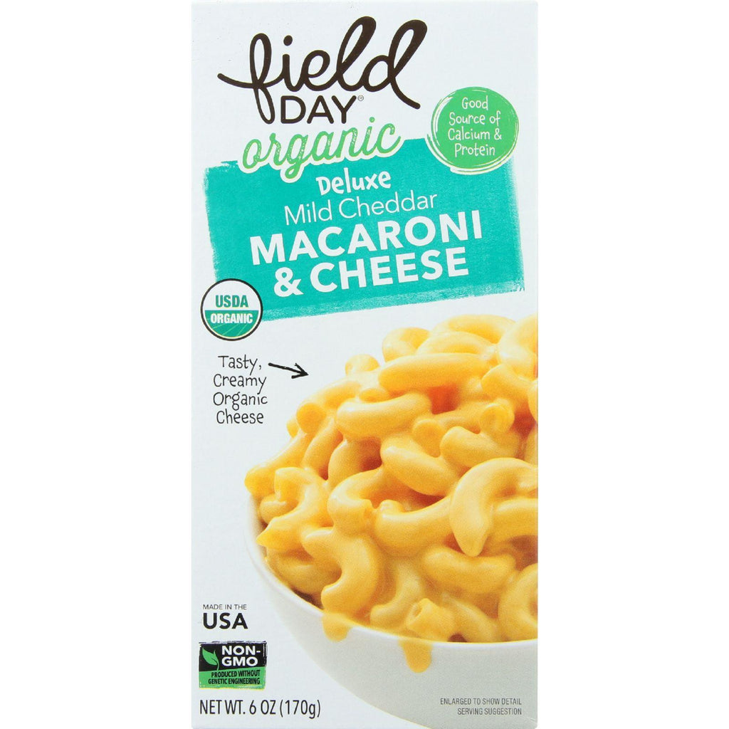 Field Day Macaroni And Cheese - Organic - Deluxe - Mild Cheddar - 6 Oz - Case Of 12-Field Day-pantryperks