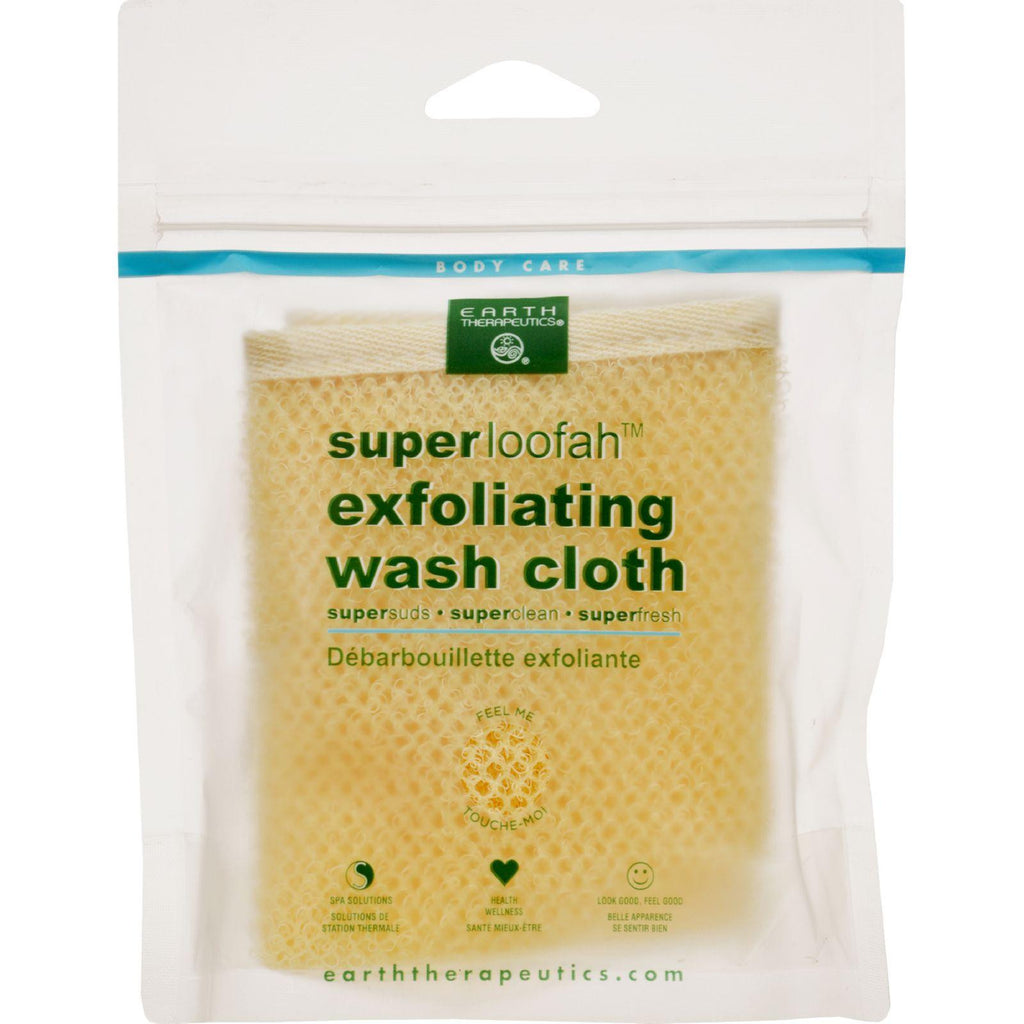 Earth Therapeutics Loofah - Super - Exfoliating - Wash Cloth - 1 Count-Earth Therapeutics-pantryperks