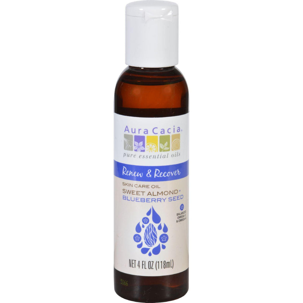 Aura Cacia Skin Care Oil - Renew And Recover - Sweet Almond Plus Blueberry Seed - 4 Oz-Aura Cacia-pantryperks