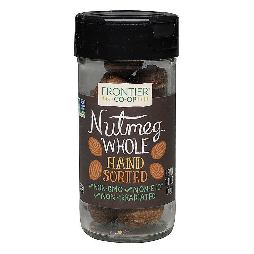 Frontier Herb Nutmeg Whole - Hand Sorted - Case Of 12 - 1.8 Oz.-Frontier Herb-pantryperks