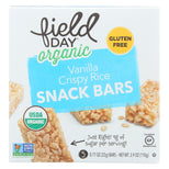 Field Day Organic Vanilla Crispy Rice Snack Bars - Crispy Rice - Case Of 6 - 3.9 Oz.-Field Day-pantryperks