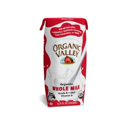 Organic Valley - Organic Milk Boxes - Whole Milk - 6.75 Ounces - Pack of 12-Organic Valley-pantryperks