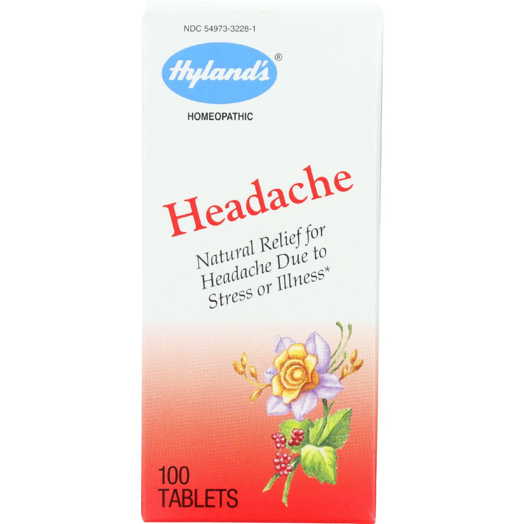 Hylands Homeopathic Headache Tablets - 100 Tablets - 1 Each-Hylands Homeopathic-pantryperks